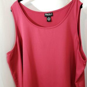Maggie Barnes Plus Size 4X Sleeveless Top Pink